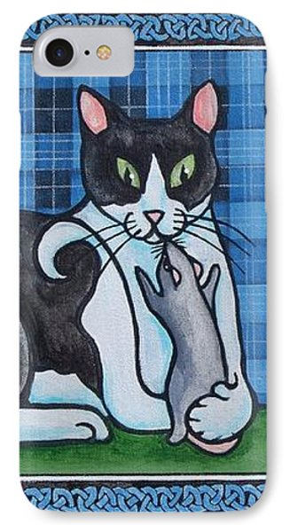 Two Mewses Phone Case by Beth Clark-McDonal