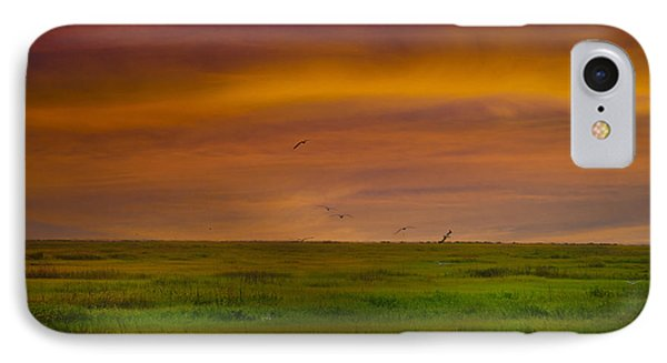 Two Mile Landing Colorful Sky IPhone Case by Bill Cannon