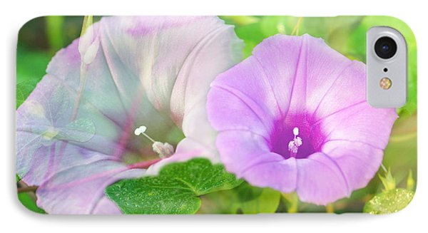 IPhone Case featuring the photograph Two Morning Glories by Susan D Moody