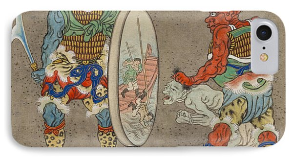 Two Mythological Buddhist Or Hindu Figures Circa 1878 IPhone Case by Aged Pixel