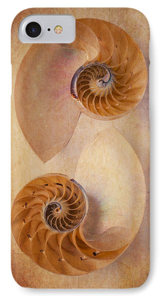 Two Nautilus Shells IPhone Case by Garry Gay