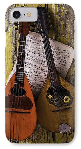 Two Old Mandolins IPhone Case by Garry Gay