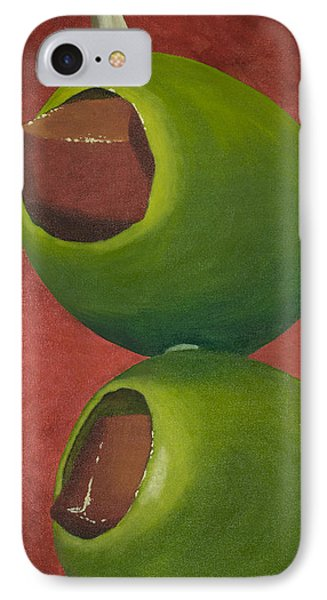 Bloody Mary iPhone 7 Case - Two Olives In Search Of A Bloody Mary by Garry McMichael