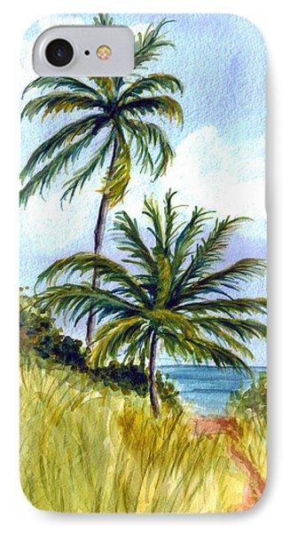 Two Palms IPhone Case by Clara Sue Beym