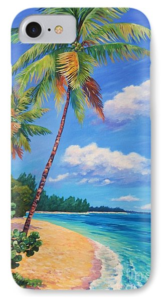 Two Palms In Paradise IPhone Case by John Clark