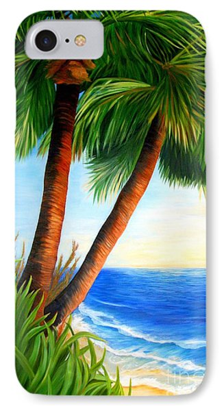 Two Palms IPhone Case by Shelia Kempf