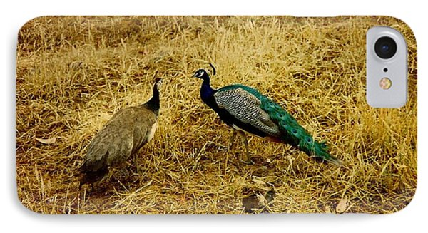 Two Peacocks Yaking IPhone Case by Amazing Photographs AKA Christian Wilson