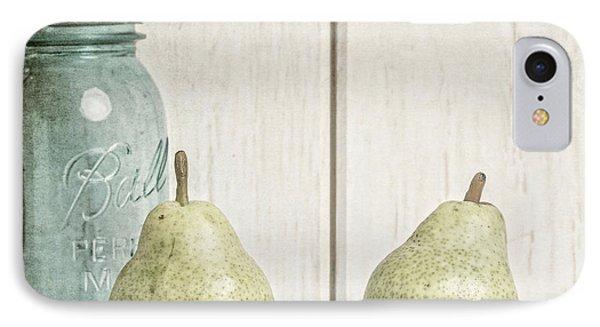 Two Pear Still Life IPhone Case by Edward Fielding