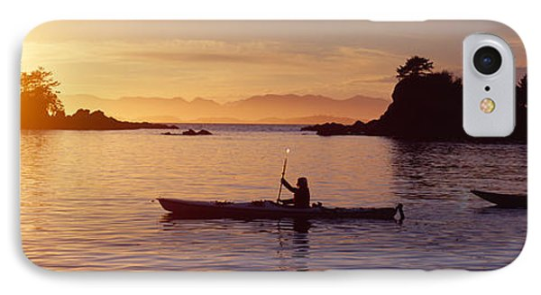 Two People Kayaking In The Sea, Broken IPhone Case by Panoramic Images