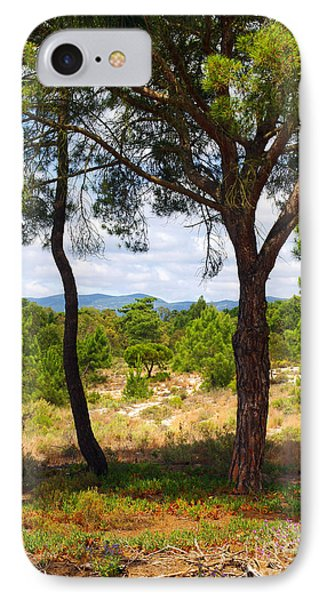 Two Pine Trees Phone Case by Carlos Caetano