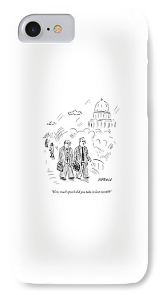 Two Politicians Speak To Each Other. The Capitol IPhone Case by David Sipress