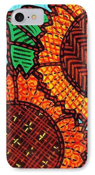 Two Quilted Sunflowers Phone Case by Jim Harris
