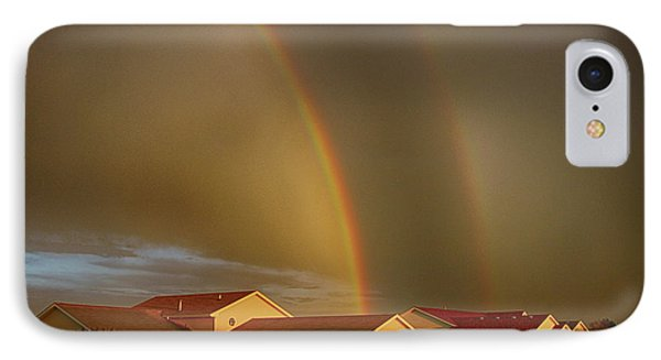 Two Rainbows Plus Two Pots Of Gold IPhone Case by Jerome Lynch