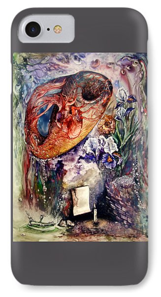 IPhone Case featuring the painting Two Realities by Mikhail Savchenko
