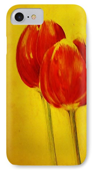 Two Red Tulips IPhone Case by Jean Cormier