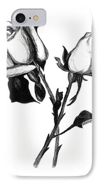 Two Roses IPhone Case