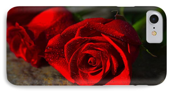 IPhone Case featuring the photograph Two Roses by Richard Stephen