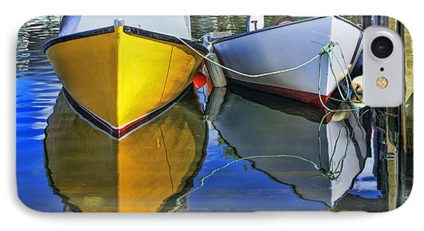 Two Row Boat At Fisherman's Cove IPhone Case by Ken Morris