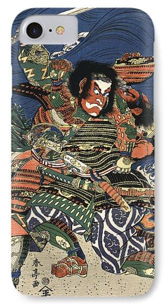 Two Samurai Fighting C. 1819 IPhone Case by Daniel Hagerman