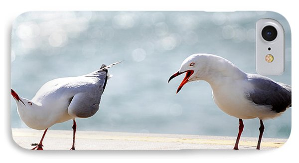 Two Seagulls IPhone Case by Yew Kwang