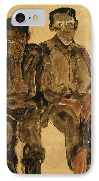 Two Seated Boys IPhone Case