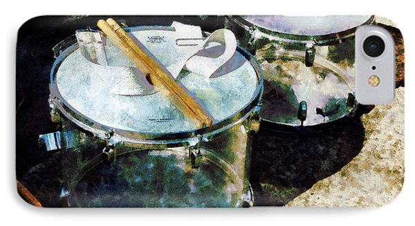 Two Snare Drums Phone Case by Susan Savad