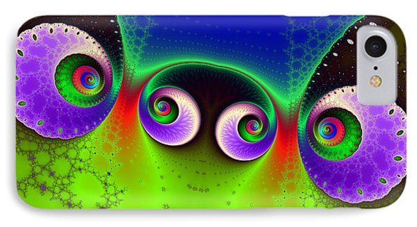 Two Spirals And A Glynn IPhone Case by Mark Eggleston