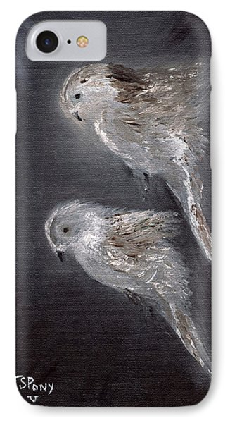 IPhone Case featuring the painting Two Spirits In The Night by Barbie Batson