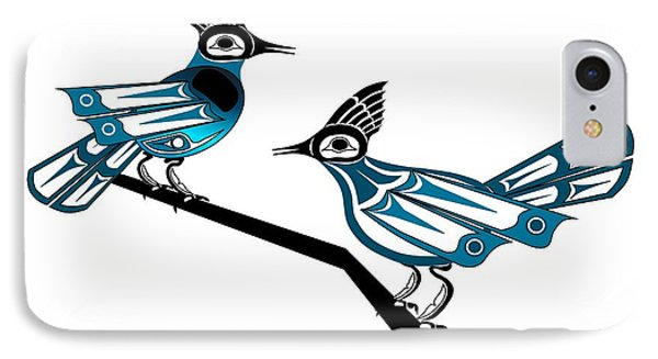 Two Stellar Jays IPhone Case by Fred Croydon