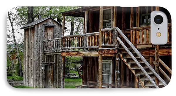 Two Story Outhouse - Nevada City Montana Phone Case by Daniel Hagerman