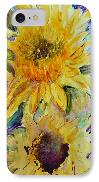 Two Sunflowers IPhone Case by Beverley Harper Tinsley