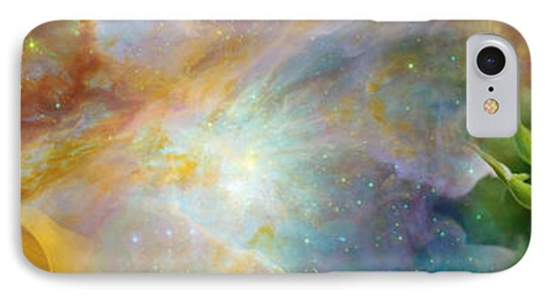 Two Sunflowers With Gaseous Nebula IPhone Case by Panoramic Images