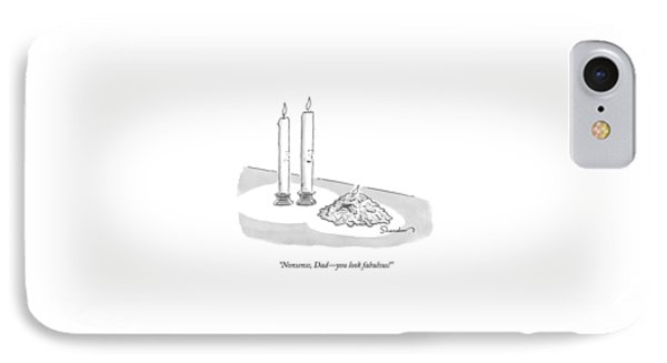 Two Tall Candles Talk To A Lumpy IPhone Case by Danny Shanahan