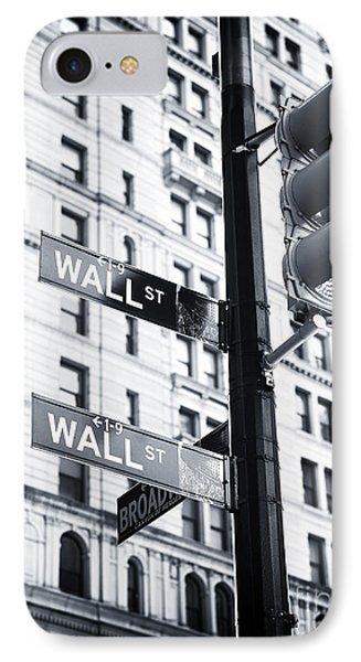 Two Times Wall St. Phone Case by John Rizzuto