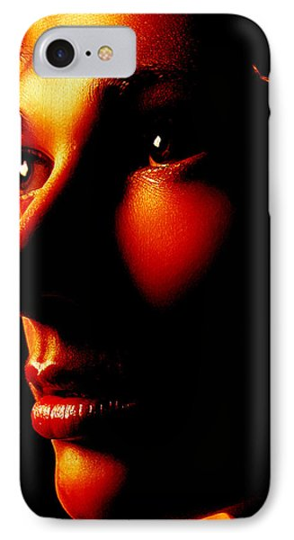 Two Tone Portrait IPhone Case by Richard Thomas