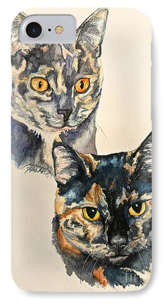 Two Torti's IPhone Case by Susan Herber