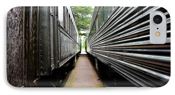 IPhone Case featuring the photograph Two Trains by Crystal Hoeveler