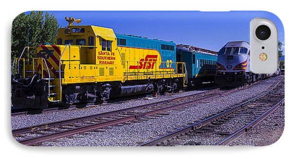 Roadrunner iPhone 7 Case - Two Trains by Garry Gay