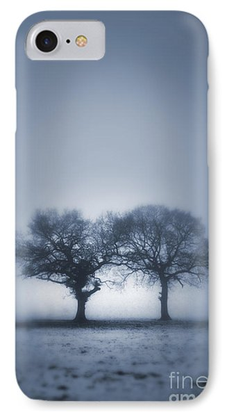 Two Trees In Blue Fog Phone Case by Lee Avison