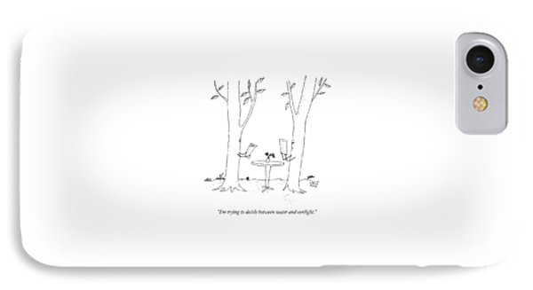 Two Trees Look At Restaurant Menus IPhone Case by Liana Finck