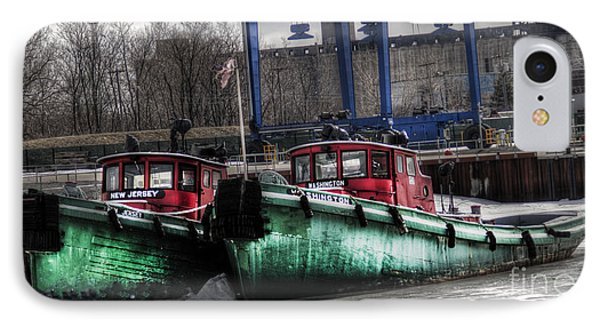 IPhone Case featuring the photograph Two Tugs by Jim Lepard