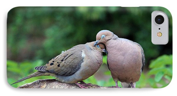 Two Turtle Doves IPhone Case by Cynthia Guinn