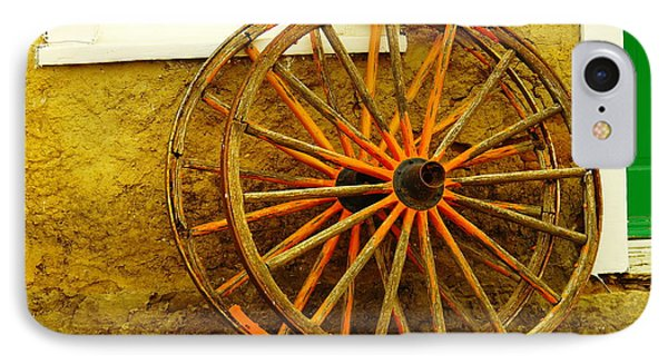 Two Wagon Wheels Phone Case by Jeff Swan