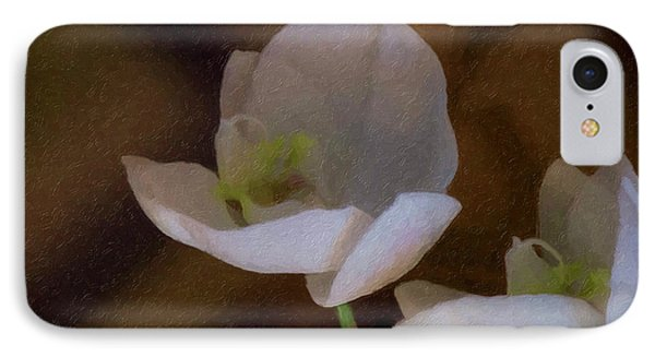 Two White Orchids IPhone Case by Linda Matlow