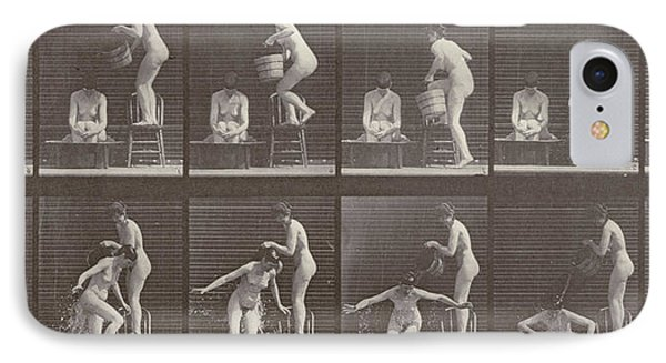 Two Women Bathing IPhone Case by Eadweard Muybridge