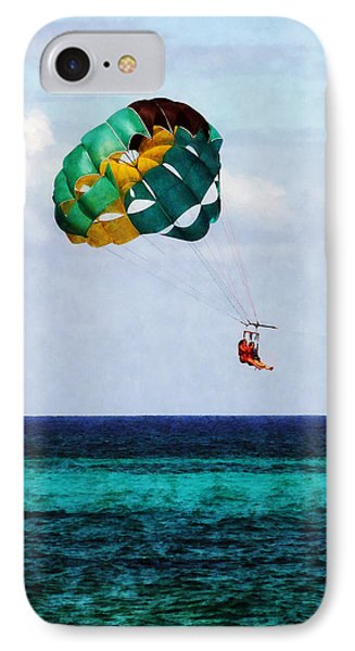 Two Women Parasailing In The Bahamas Phone Case by Susan Savad