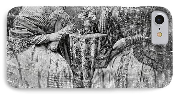 Two Young Antebellum Ladies Almost Lost To Time Phone Case by Daniel Hagerman
