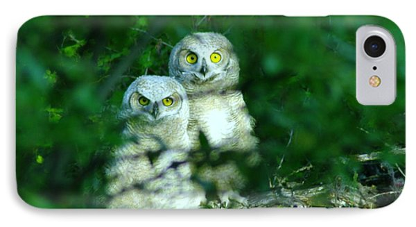 Two Young Owls Phone Case by Jeff Swan