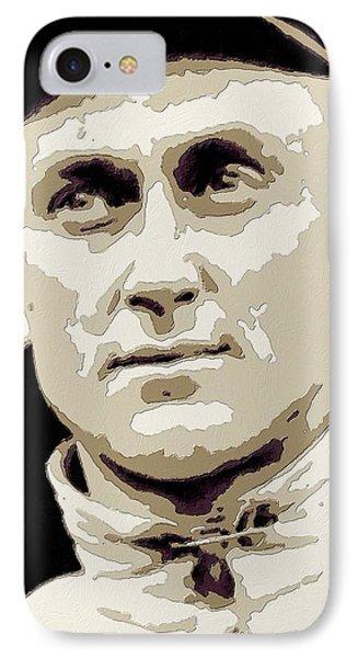 Ty Cobb Poster Art IPhone Case by Florian Rodarte