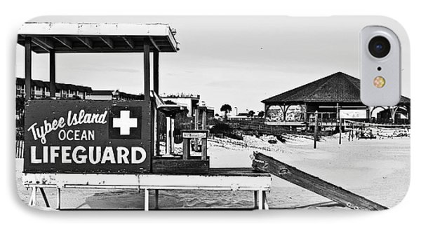 Tybee Island Lifeguard Stand IPhone Case by Melissa Sherbon